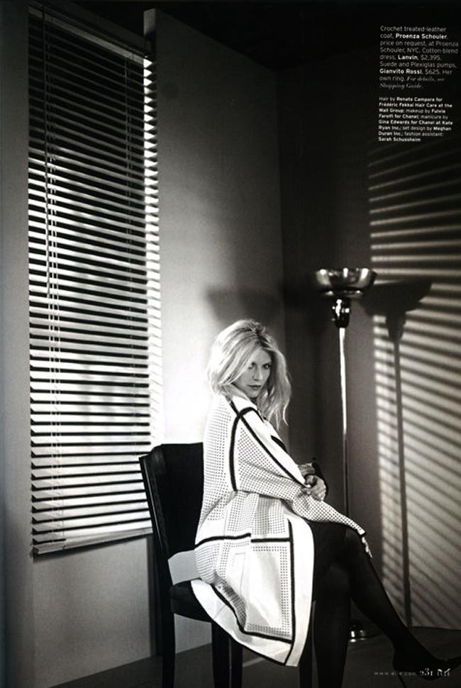 Claire Danes ELLE US February 2013 photographed by Carter Smith