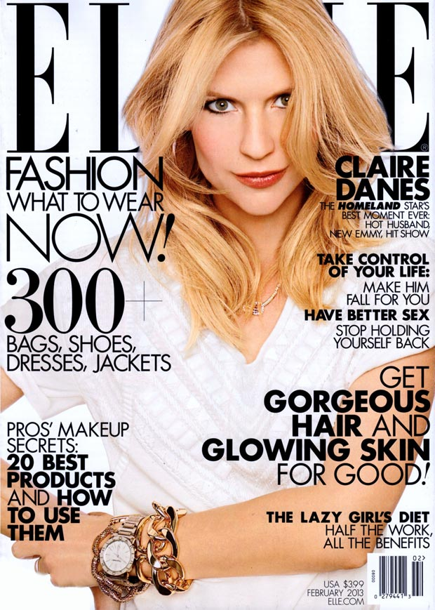 Claire Danes' Elle US February 2013, The Awards Season Courtesy
