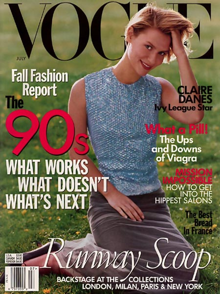 Claire Danes first Vogue US cover 1998 Steven Meisel