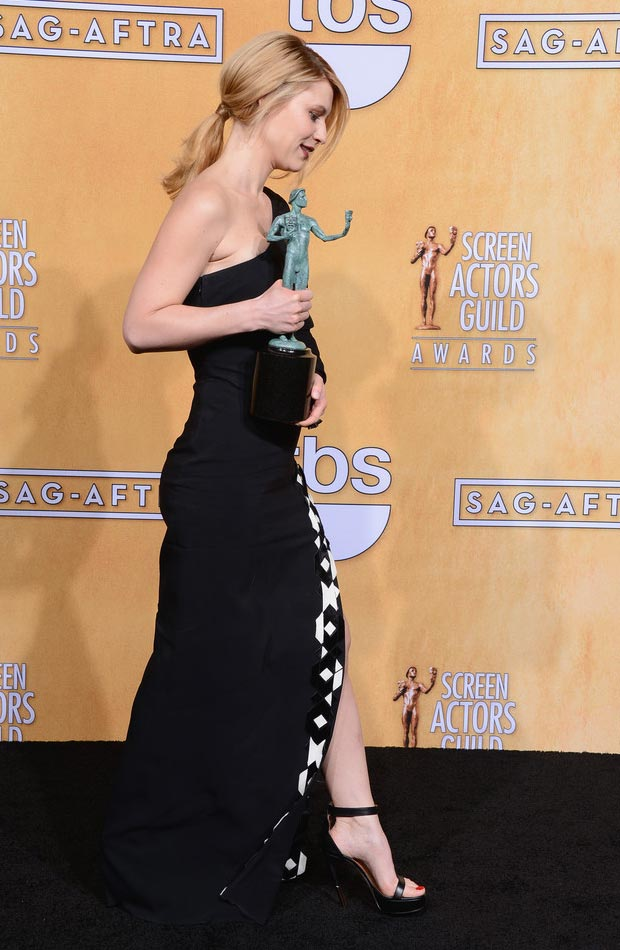 Claire Danes hair 2013 SAG Awards