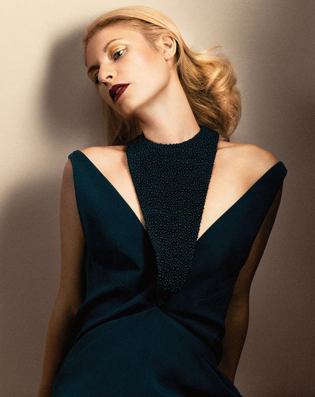 Claire Danes Interview November 2013 Balenciaga dress