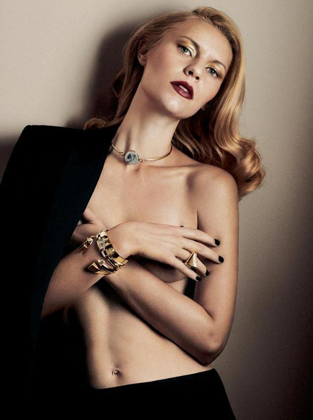 Claire Danes Interview November 2013 heavy jewelry