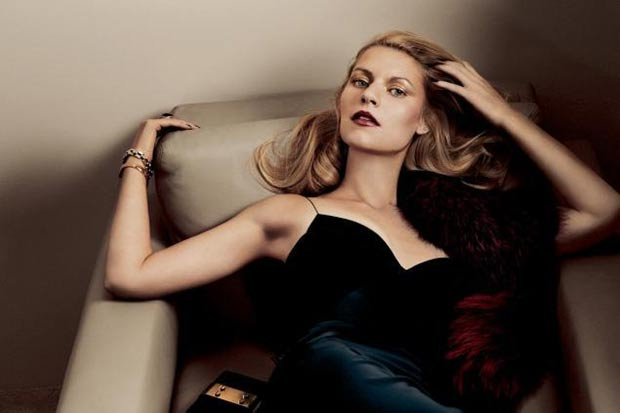 Claire Danes Interview November 2013 Narciso Rodriguez dress