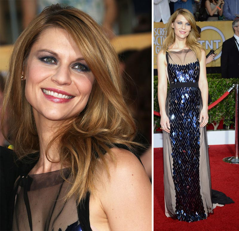 Claire Danes sequins dress 2014 SAG Awards Red Carpet