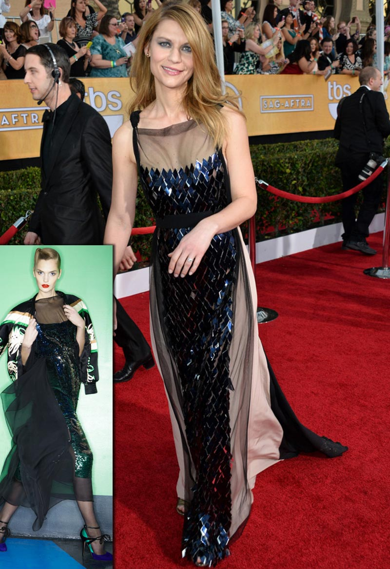 Claire Danes Vionnet dress 2014 SAG Awards