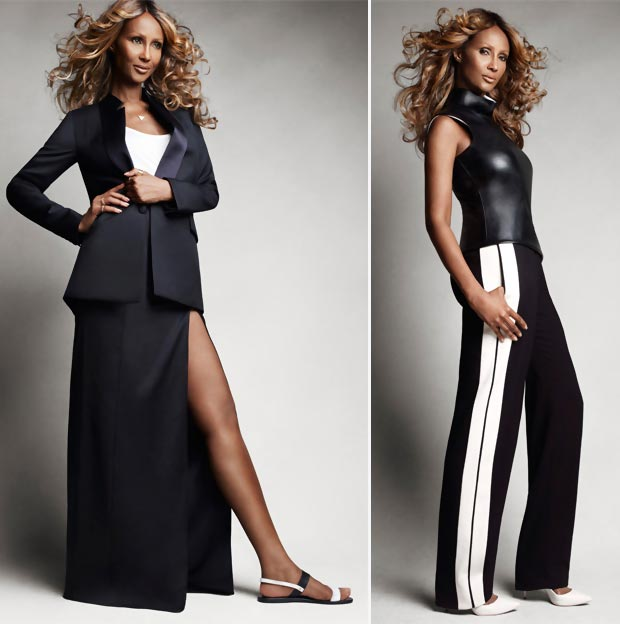 classic timeless black and white looks Iman