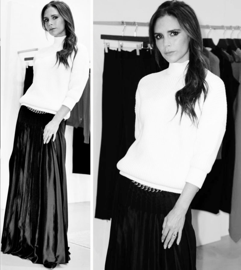 Holidays Party Wearable Inspiration: Victoria Beckham's Maxi Pleated Skirt