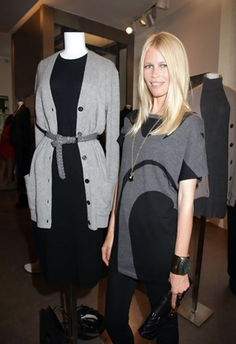Claudia Schiffer's Cashmere Clothes Now Available