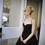 Claudia Schiffer D G black dress Cannes 09