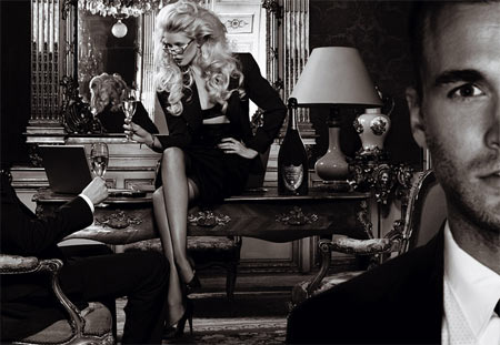Claudia Schiffer Pictures for Dom Perignon Ads