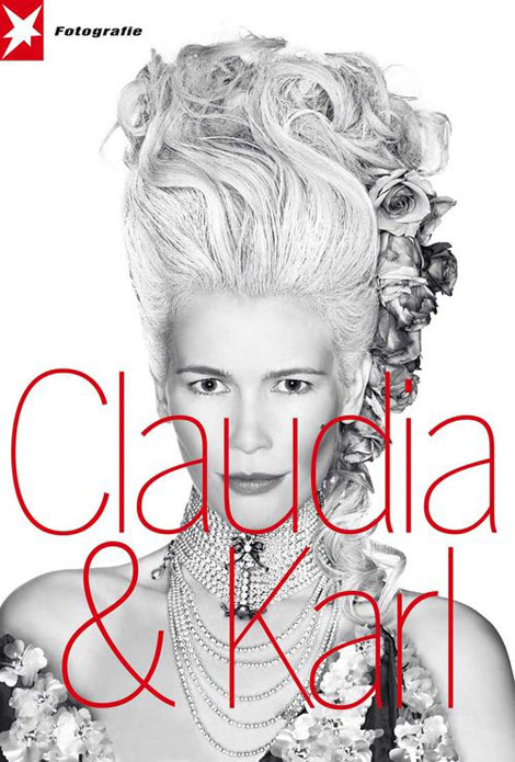 Claudia Schiffer Karl Lagerfeld Stern Fotografie cover