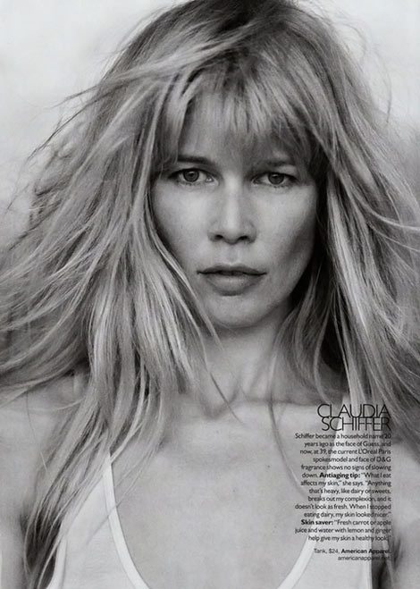 Claudia Schiffer Supermodels Supernatural Harper s Bazaar September 09