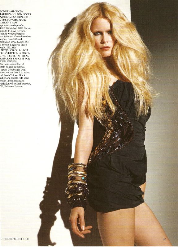 Claudia Schiffer Vogue UK April 2009 LV