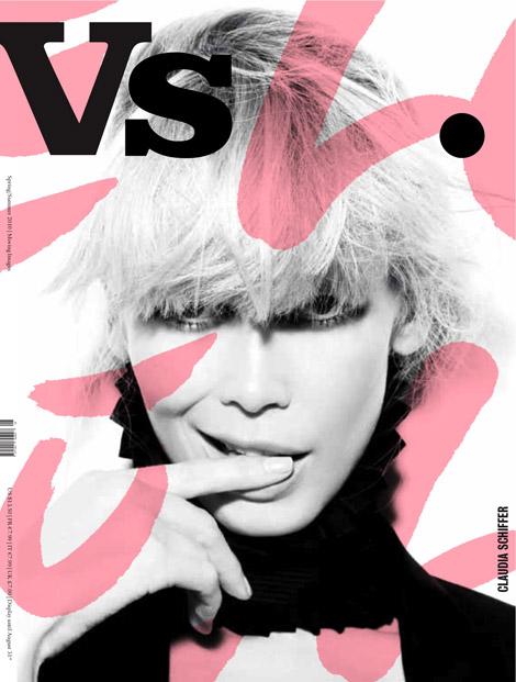 Claudia Schiffer Vs. Spring Summer 2010 cover