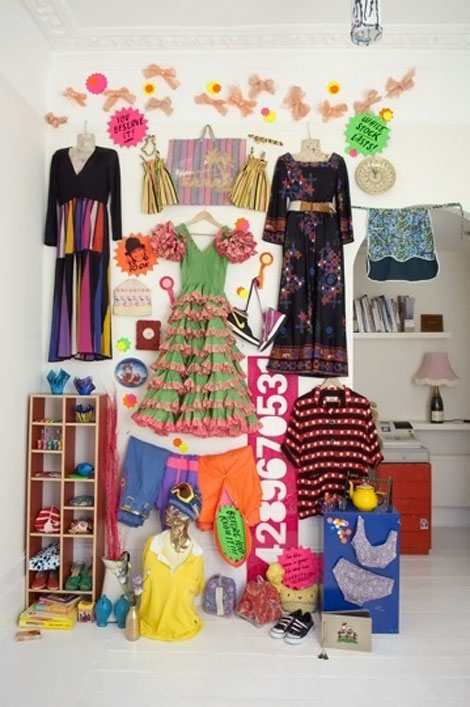 Clothes wall display at home