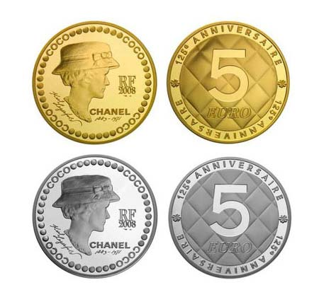 125th Chanel Anniversary Equals 5 Euro Gold Coin