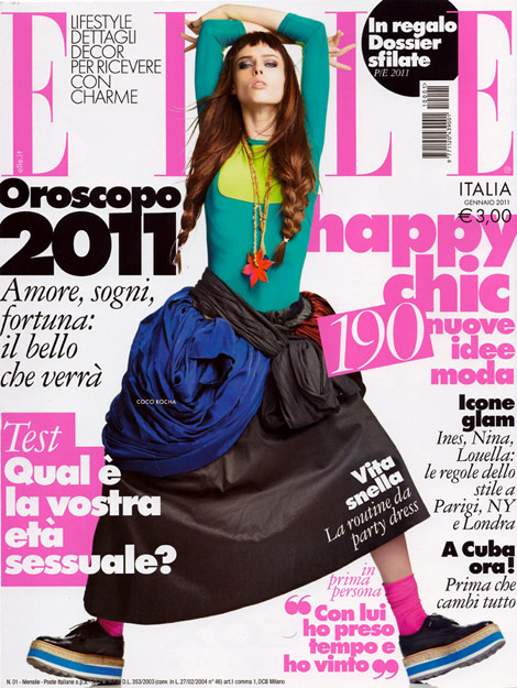 Coco Rocha Covers Elle Italia January 2011