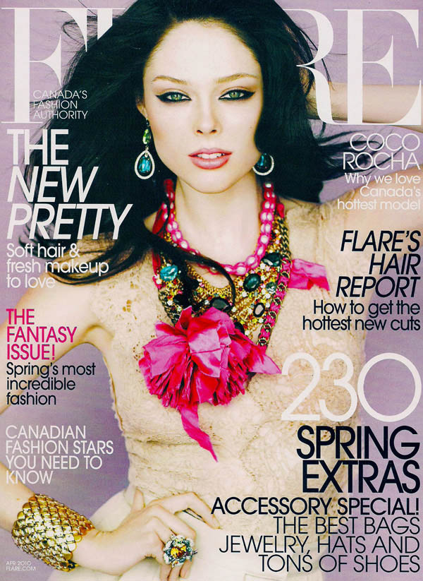 Coco Rocha Flare April 2010 cover