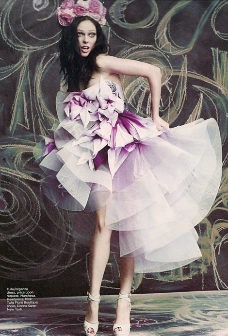 Coco Rocha Flare April 2010 photo