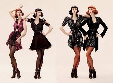 Coco Rocha Karen Elson PHI Fall Winter 2008 2009 Advertsing Campaign