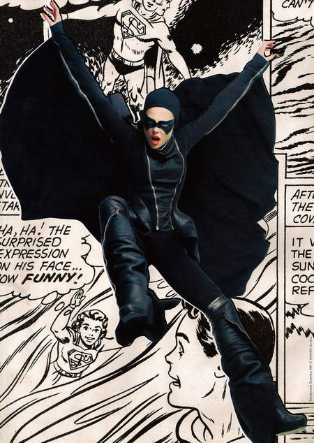 Coco Rocha in Vogue May as Batman