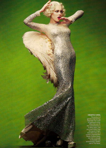 Coco Rocha in Vogue May as Dawnstar
