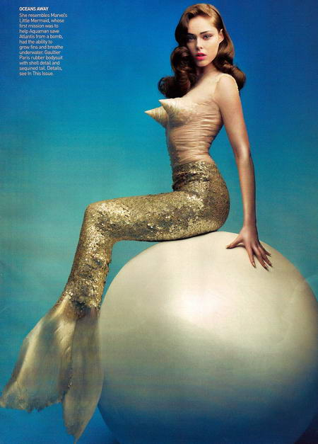 Coco Rocha in Vogue May as The Little Mermaid