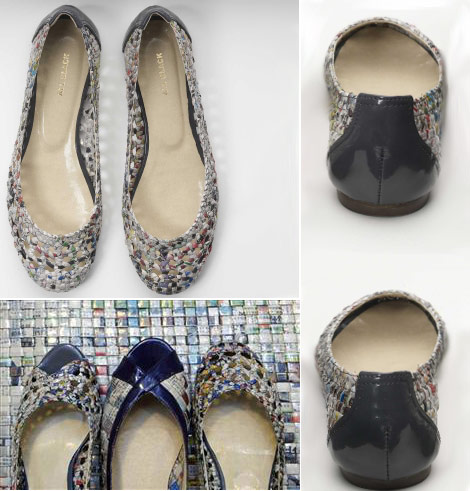 Dare To Wear The Newspaper Recycled Shoes By Colin Lin?