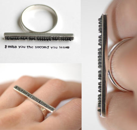 Colleen Baran Love Letter Ring &#8211; One Second To Say You Miss Them