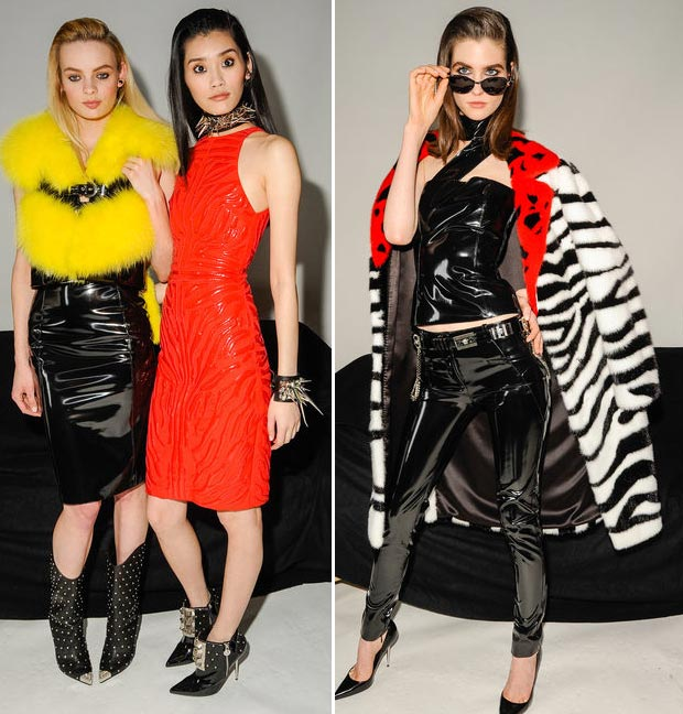 color pops zebra Versace Fall 2013 trends