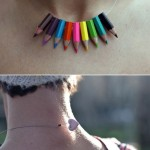 Colored pencils necklace
