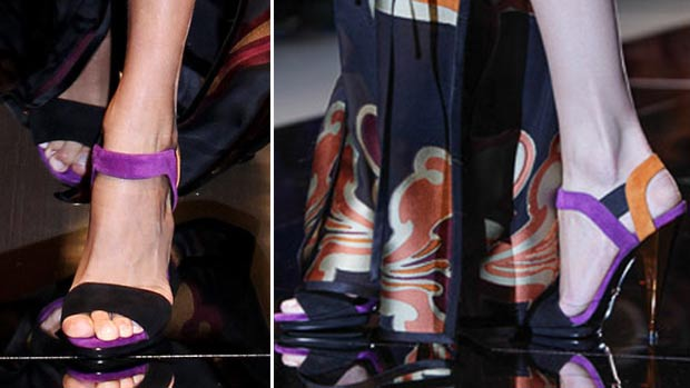 colored Suede Straps Sandals Gucci SS14