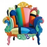 colorful armchair Cappellini
