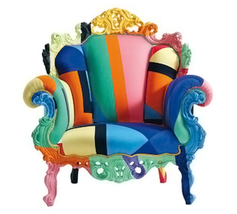 Fun colorful armchair cappellini proust geometrica for Interesting armchairs