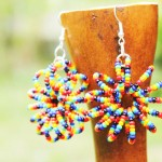 colorful beaded earrings by Innocent Creationz