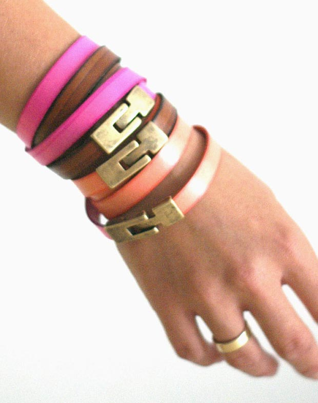 Must Wear This Summer: Stackable Colorful Leather ...