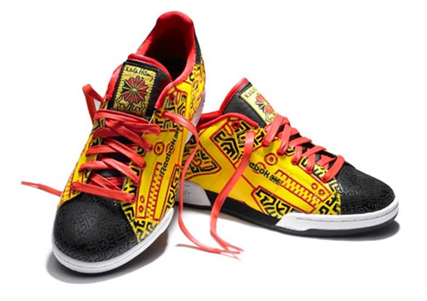 colorful sneakers Reebok Keith Haring