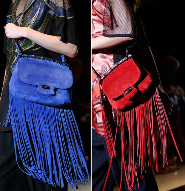 colorful suede fringe bags Gucci SS14