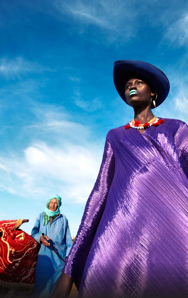 colorful Vogue Netherlands July 2013 Kinee Diouf
