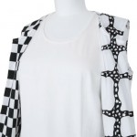 Comme des garcons black and white dress detail
