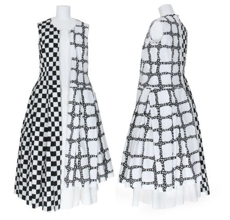 Comme des garcons black and white dress