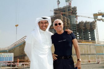 Construction of the first Armani Hotel in Burj Dubai