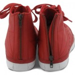 Converse Red leather jacket Chuck Taylor zipper