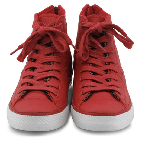 Converse Red leather jacket Chuck Taylor