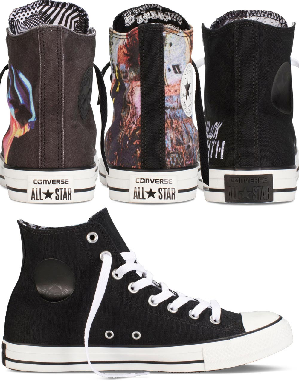Converse Black Sabbath Chuck Taylor sneakers collection