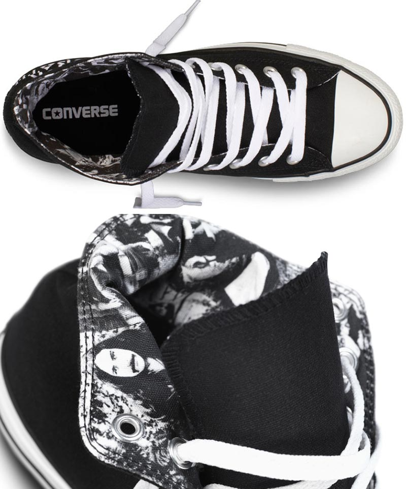 Converse Black Sabbath inside