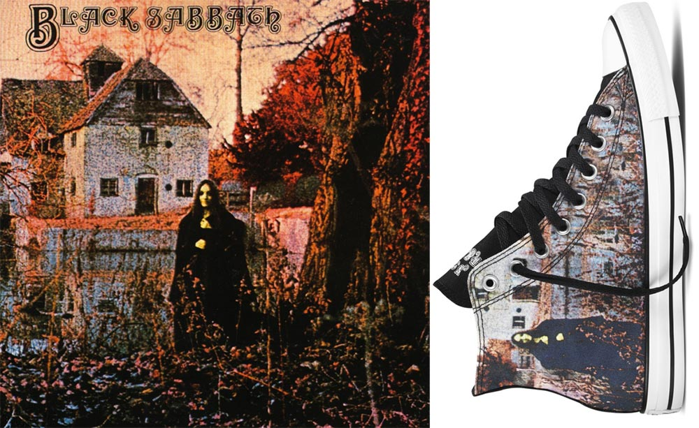 Converse Black Sabbath sneakers Black Sabbath album cover