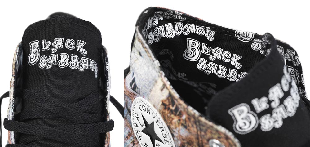 Converse Black Sabbath sneakers details