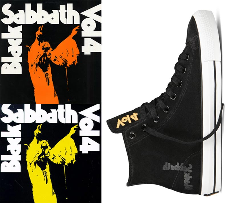 Converse Black Sabbath sneakers No 4 album cover