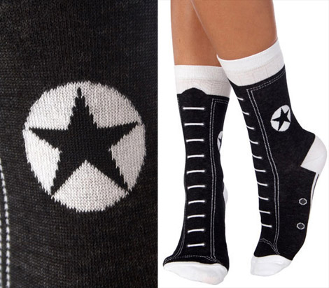 Converse Hi top socks black